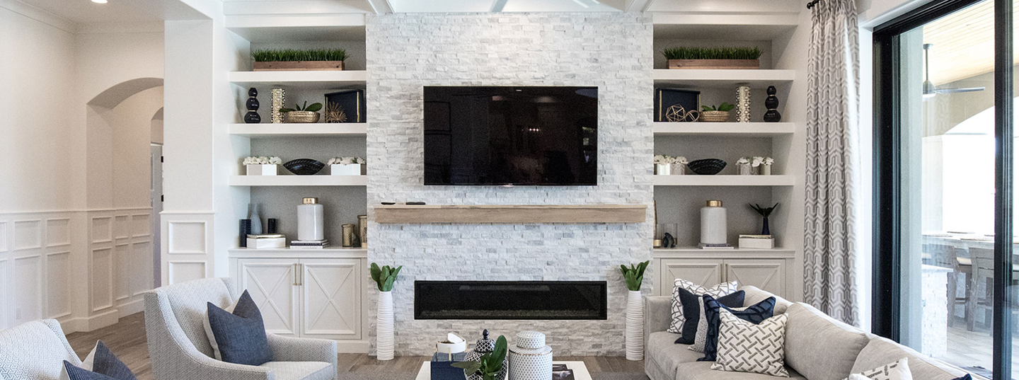 built-in-mediawall-white-brick-fireplace