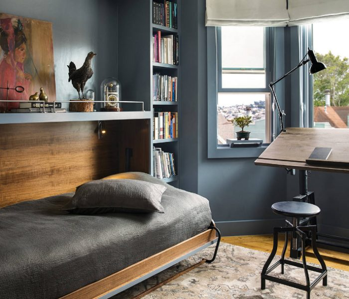 custom-bookcase-bed-transitional-blue