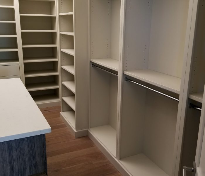 modern style closet in gray with closet