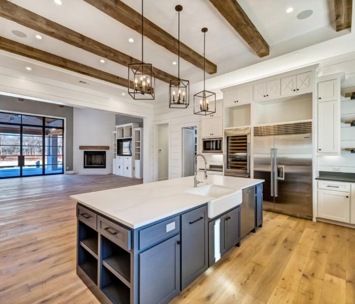 custom-kitchen-gray-natural-wood-white-quartz-countertops