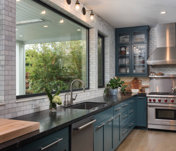 custom-kitchen-transitional-teal-gray-chrome