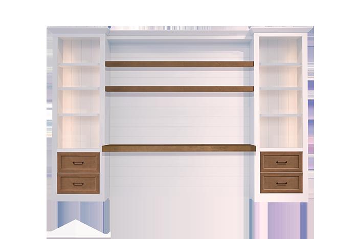 custom-shiplap-wall-desk-white-wood-stain-4-drawers