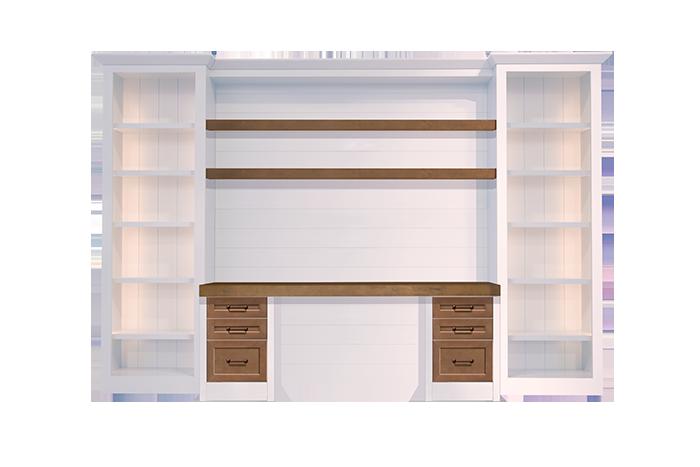 custom-shiplap-wall-desk-white-wood-stain-6-drawer