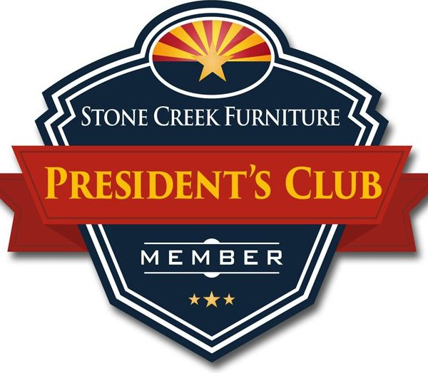 stone creek furniture presidents club member logo