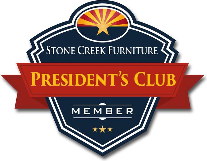 stone creek furniture presidents club member logo