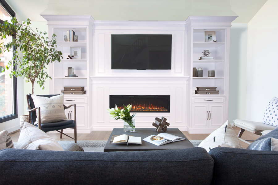 traditional-white-media-wall-living-room
